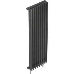 Tesni Gio 1 Column Vertical Designer Radiator 1800 x 520mm 5234Btu Anthracite
