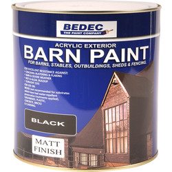 Bedec Bedec Barn Paint Matt Black 2.5L - 38399 - from Toolstation