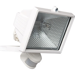 Zinc Halogen PIR Floodlight 400W White - 38478 - from Toolstation