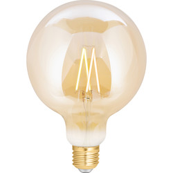 4lite WiZ 4lite WiZ LED G125 Smart Filament Wi-Fi Bulb Amber 6.5W ES 720lm - 38564 - from Toolstation
