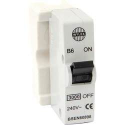 Wylex Wylex Plug in Breaker B Type 6A White - 38609 - from Toolstation