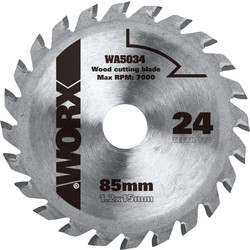 Worx Worx TCT Circular Saw Blade 85 x 15mm x 24T - 38615 - from Toolstation