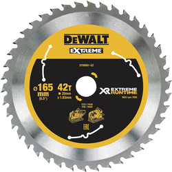 Dewalt DeWalt Extreme Runtime Circular Saw Blade 165mm x 20mm x 42T - 38756 - from Toolstation