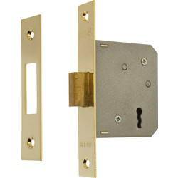 ERA ERA 3 Lever Mortice Deadlock Brass 64mm - 38764 - from Toolstation