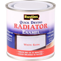 Rustins Rustins Quick Dry Radiator Satin Paint White 250ml - 38825 - from Toolstation