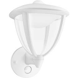 Philips Philips LED Robin Outdoor PIR Wall Lantern IP44 4.5W White 430lm - 38889 - from Toolstation