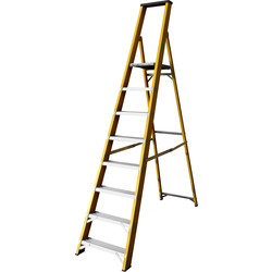 Lyte Ladders Lyte Heavy Duty Fibreglass Platform Step Ladder 8 Tread, Closed Length 2.51m - 38891 - from Toolstation
