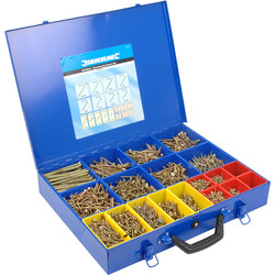 Goldstar Countersunk Pozi Screw Pack & Case  - 38906 - from Toolstation