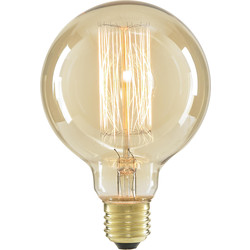 Inlight G95 Vintage Incandescent Decorative Dimmable Lamp 40W ES (E27) Tinted 140lm - 38935 - from Toolstation