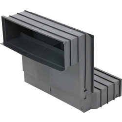 9 x 3 Telescopic Vent Black