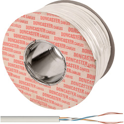 Doncaster Cables Doncaster Cables Telephone Cable 2 Pair x 100m White Drum - 39009 - from Toolstation