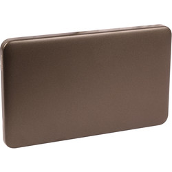 Schneider Schneider Lisse Mocha Bronze Screwless Blank Plate 2 Gang - 39082 - from Toolstation
