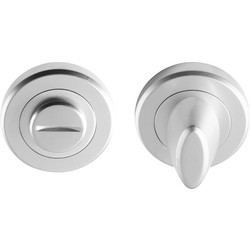 Serozzetta Serozzetta Thumbturn Escutcheon Satin Chrome - 39099 - from Toolstation