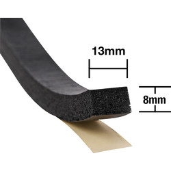 Stormguard Stormguard Extra Thick Weatherstrip Black 10.5m - 39239 - from Toolstation
