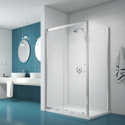 Merlyn Nix Merlyn NIX Sliding Shower Enclosure Door and Side Panel 1400 x 900mm - 39305 - from Toolstation