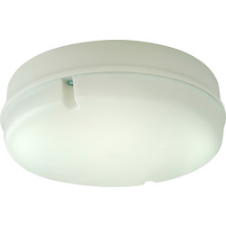 Fern Howard Fern Howard Trojan Round HF 28W 2D IP65 Bulkhead White Opal - 39348 - from Toolstation