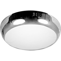 Meridian Lighting Luna HF 2D16 IP65 Bulkhead Chrome - 39354 - from Toolstation