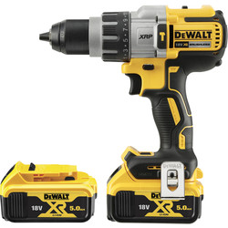 DeWalt DeWalt DCD996 18V XR Li-ion Cordless Brushless 3 Speed Combi Drill 2 x 5.0Ah - 39411 - from Toolstation