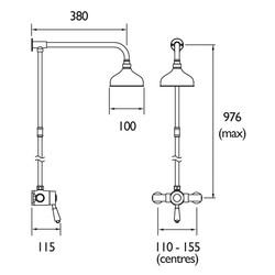 Bristan Colonial Sequential Mixer Shower Valve & Kit