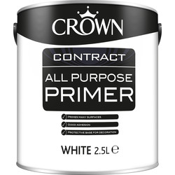 Crown Contract Crown Contract All Purpose Primer White 2.5L - 39532 - from Toolstation