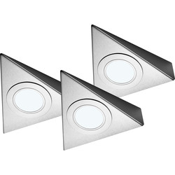 Sensio Sensio LED Low Voltage Triangle Under Cabinet Light Kit 24V Cool White 85lm - 39565 - from Toolstation
