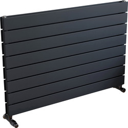 Ximax Ximax Oxford Duo Horizontal Designer Radiator 595 x 900mm 3010Btu Anthracite - 39692 - from Toolstation