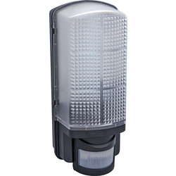Meridian Lighting LED 9W PIR Bulkhead Black 720lm - 39694 - from Toolstation