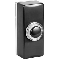 Byron Byron Wired Bell Push Illuminated Black - 39823 - from Toolstation