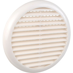 Round Louvre Vent White - 39834 - from Toolstation