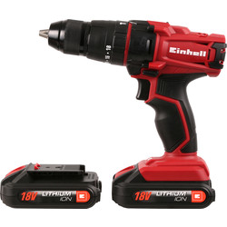 Einhell Einhell TC CD18-2Li 18V Li-Ion Cordless Combi Drill 2 x 1.5Ah - 39858 - from Toolstation
