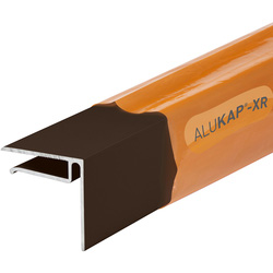 Alukap Alukap-XR Sheet End Stop Bar for Axiome Sheets 6mm x 4.8m Brown - 39910 - from Toolstation