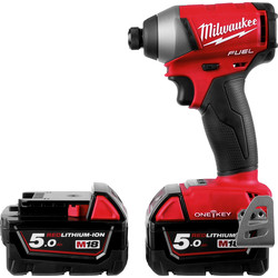 Milwaukee Milwaukee M18ONEID-502X 18V Li-Ion One-Key Cordless Brushless Impact Driver 2 x 5.0Ah - 39926 - from Toolstation
