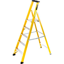 TB Davies TB Davies Fibreglass Platform Step Ladder 5 Tread SWH 2.8m - 39985 - from Toolstation