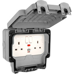 MK IP66 Masterseal Plus RCD Socket