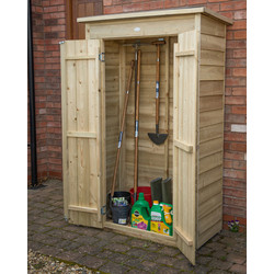 Forest Forest Garden Pressure Treated Tall Garden Store Pent Overlap 178 x 108 x 55cm - 40099 - from Toolstation