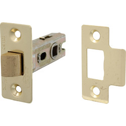 Fire Door Bolt Through Tubular Latch 63mm Electro Brass - 40112 - from Toolstation