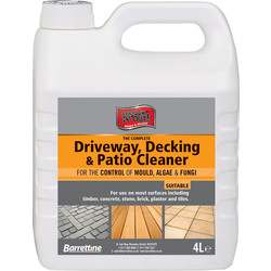 Barrettine Driveway, Decking & Patio Cleaner 4L - 40135 - from Toolstation