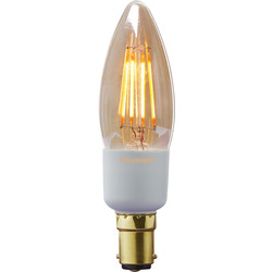 Sylvania Sylvania LED Filament Effect Golden Dimmable Candle Lamp 4.5W SBC 260lm A++ - 40192 - from Toolstation