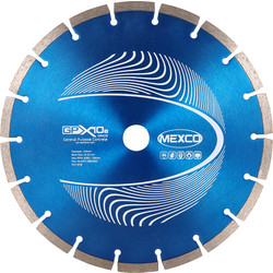 Mexco Mexco General Purpose GPX10-8 Diamond Blade 230 x 22.23mm - 40199 - from Toolstation