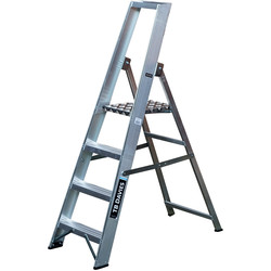TB Davies TB Davies Industrial Platform Step Ladder 4 Tread SWH 2.4m - 40206 - from Toolstation
