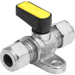 Mini Lever Ball Valve with Floorplate 8mm - 40226 - from Toolstation