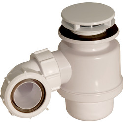 McAlpine McAlpine Shower Trap 50mm Seal 70mm Mushroom Flange White - 40232 - from Toolstation