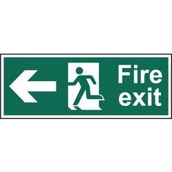 Fire Safety Sign Fire Exit Left 400x150 - 40272 - from Toolstation