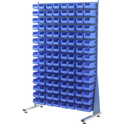 Barton Barton Steel Louvre Panel Starter Stand with Blue Bins 1600 x 1000 x 500mm with 120 TC2 Blue Bins - 40285 - from Toolstation
