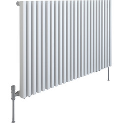 Kudox Kudox Xylo White Designer Radiator 600 x 980mm 3211Btu - 40298 - from Toolstation