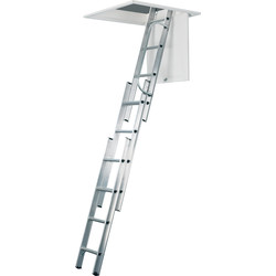 Werner Werner Aluminium Loft Ladder 3 Section - 40397 - from Toolstation