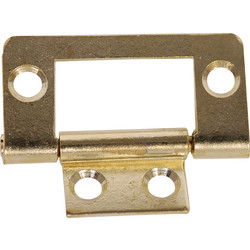 Brass Plated Flush Hinge 40mm - 40523 - from Toolstation
