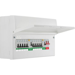 BG BG Metal Consumer Unit Dual RCD + 10 MCBs 10 Way - 40631 - from Toolstation