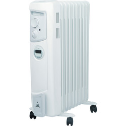 Dimplex Dimplex 2kW Oil Filled Radiator With Timer  - 40674 - from Toolstation