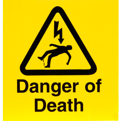 CED Electrical Warning Signs Danger of Death - 40702 - from Toolstation